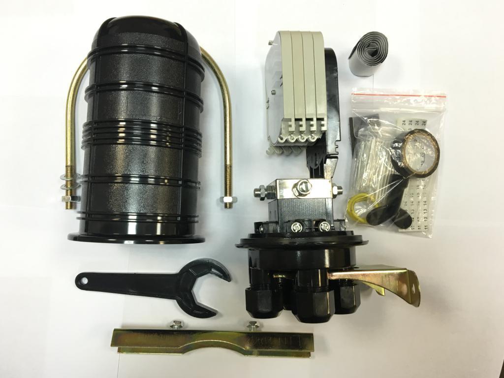 Муфта на  48 оптич. волокон, тупиковая, GPJ-D1 механическая герметизация