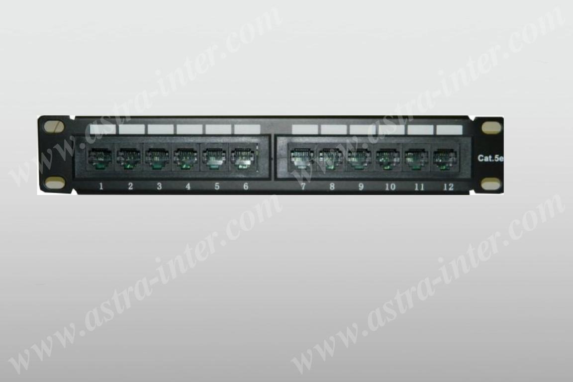 Патч-панель 12 портов RJ-45, кат.5е, (10