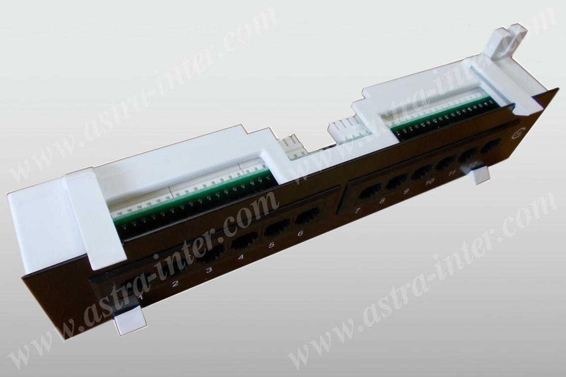 Патч-панель 12 портов RJ-45, кат.5е, тип KRONE 1U (10